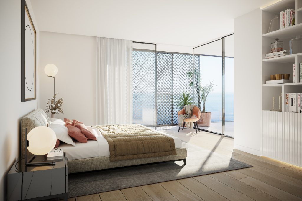 AVENCAS Ocean View Residences - Bedroom with sea view